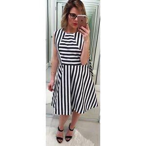 Kate Spade Saturday Striped Seamed Dress